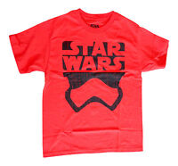 NEW! Star Wars Logo Imperial Storm Trooper Silhoute Red Shirt Kids Youth Sizes