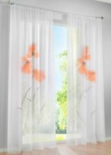 Flower Tulle Curtains Window Sheer Living Rooms Bedroom Voile Blinds Home Decors