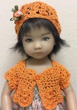 "*Orange ""  Sweater & Hat~Effner Darling ~ 13"" Dolls"