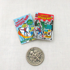 Spider Man Comic Books 2 Dollhouse Miniatures Illustrated Readable 1:12 Scale