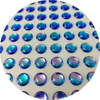 // 350 Soft Molded 3D Holographic Fish Eyes Fly Jig 5mm Super Pearl Oval Pupil