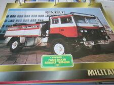 SUPER Trucks renntrucks Francia Parigi-Dakar Renault TRM 4000, 1980