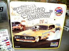 """Revell 1/25 """"WILD WILLIE BORSCH'S"""" FUNNY CAR IN TIN Plastic Model Kit #85-4119"""