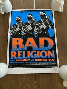 BAD RELIGION 2004 poster Stainboy rise against Orlando house of blues #123/300