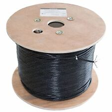 Cat 6 sólido PE Exteriores Cable Negro 20m Reel 100% Cobre De Red Lan Ethernet