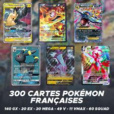 Lot de 300 Cartes Pokémon   140 GX - 20 EX - 20 MEGA - 49 V - 11 Vmax - 60 Squad