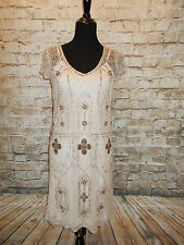 Modcloth Rococo Radiance Dress NWT Sz 14 US  $190  Beaded  shift  Frock & Frill