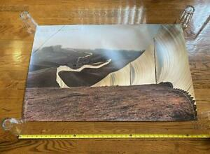 CHRISTO & JEAN CLAUDE Large Signed Poster Running Fence Sonoma 1976 LAST ONE