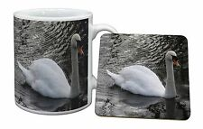 Beautiful Swan Mug+Coaster Christmas/Birthday Gift Idea, AB-S2MC