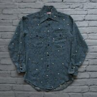 Rare Vintage Levis Paisley Western Shirt Size S XS Made in USA Blue LVC