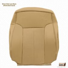 2011 2012 Ford F350 Lariat Front Driver Lean Back Cover Perforated Leather Tan