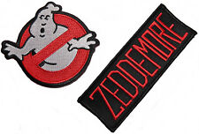 GHOSTBUSTERS No-Ghost Logo and Zeddemore Name Set of 2 Iron On/Sew On PATCHES