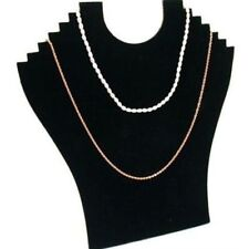 Necklace Bust Jewelry Pendant Chain Display Holder Stand Neck Velvet Easel Pop
