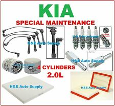 FOR 04-09 KIA SPECTRA & SPECTRA 5 TUNE UP KITS: SPARK PLUGS, WIRE SET & FILTERS