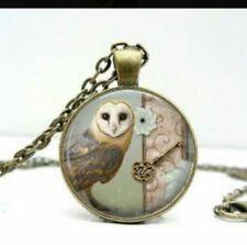 collar tarot buho owl bronce sacerdotisa kawaii