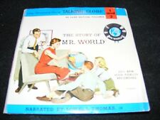 THE STORY OF MR. WORLD 1962 Kids Double 7 inch EP with Booklet LOWELL THOMAS