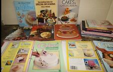 Job lot Cake Decorating Books Chocolate, Wedding Cakes Novelty Royal icing Kids