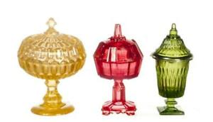 Dolls House Coloured Candy Dishes Chrysnbon Miniature Ornaments 1:12 Accessory