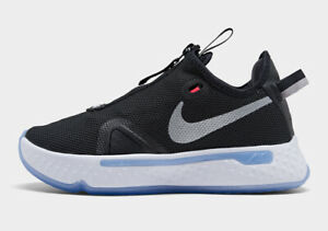 Nike Paul George PG 4 Black Oreo White Smoke Grey CD5079-001 sz 17 Basketball