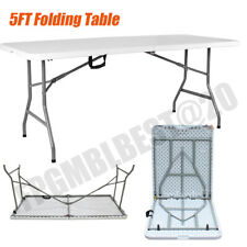 2020 5ft Folding Camping Table Aluminium Picnic Portable Party BBQ Foldable UK