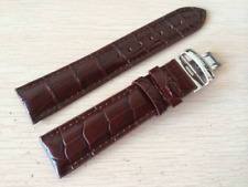 Brown leather strap Watchband for Tissot Visodate T019430 20mm silver Buckle