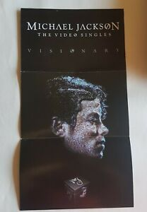MICHAEL JACKSON : VISIONARY ♦ X-RARE FRENCH PROMO POSTER / BOOKLET ♦ see !