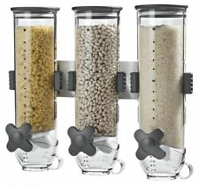 CLEAR PASTA CEREAL DISPENSER DRY FOOD STORAGE CONTAINER DISPENSE MACHINE GIFT