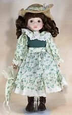 """Collectible Memories Isabell 15.5"""" Porcelain Doll Brown Hair Brown Eyes"""