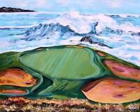 Pebble Beach GOLF Course Original Art PAINTING DAN BYL Modern Contemporary 4x5ft