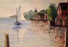 Sperry Andrews Listed Rare Original Oil of Old Long Island NY Framed & Signed