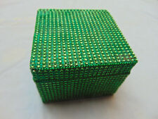 Jewelry Storage Box Decorative Case Wedding Gift Favors handmade green color