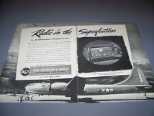"VINTAGE..BOEING B-29 SUPERFORTRESS ""RCA"".. SALES AD...RARE! (551D)"