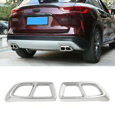 For infiniti QX50 2018-2020 Chrome steel car Rear Tail Exhaust Muffler Tip Pipe