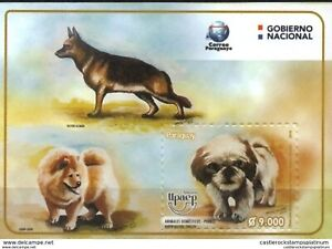 RO) 2018 PARAGUAY, AMERICA UPAEP-DOMESTIC ANIMALS-DOGS, GERMAN SHEPHERD-MONGREL-