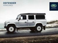 LAND ROVER 2014 DEFENDER 110 armoured RETRO POSTER PRINT CLASSIC ADVERT A3!