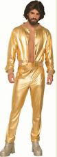 Disco Fever Singer Adult Men's Costume Shiny Gold Suit Jacket & Pants 70s 80s