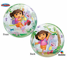 "NEW Dora The Explorer 22"" Qualatex BUBBLE Balloons Birthday Party Supplies~"