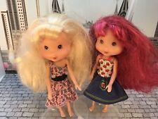 Strawberry Shortcake & RARE Blonde Angel Cake Doll Bundle with Scented Hair HTF