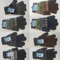 MEN BOY WOMEN KNITTED WOOLY WINTER WARM GLOVES DIFF COLOR * limited offer