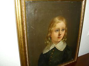 Ölgemälde Biedermeier wunderschönes Mädchen Porträt