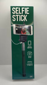 GEMS Selfie Stick 3ft Extendable Adjustable Mount with Remote Button (Green)