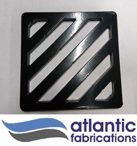 Square Gully Grid Grate Heavy Duty Drain Cover- steel powder coated.