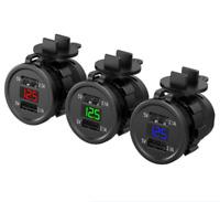 5V 4.2A Dual 2 USB Charger Socket Adapter Power Outlet 12V 24V Car Motorcycle TK