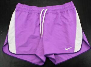 NIKE Dri-Fit Women's Athletics/Sports SHORTS Purple UK L(uk 14-16) 453 P