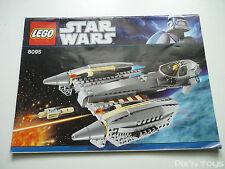 LEGO Notice Instruction / 8095 General Grievous' Starfighter
