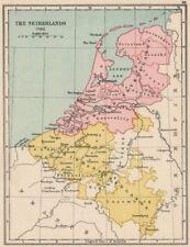 NETHERLANDS 1702. United Netherlands. Spanish Netherlands 1907 old antique map