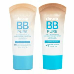 MAYBELLINE Dream Pure 8 in 1 BB Cream 30ml - CHOOSE SHADE - NEW Sealed