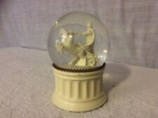 CAESARS PALACE ROMAN SOLDIER WITH HORSE AND CHARIOT SNOW GLOBE.