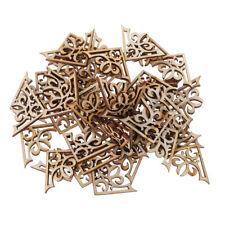 Decor DIY Crafts Ornament Embellishment Natural Wood Wooden Piece Scrapbooking