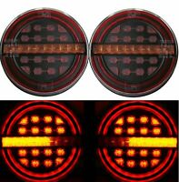 2x LED Rückleuchten rund Anhänger Set dynamische Blinker Ø140mm Rücklicht 12//24V